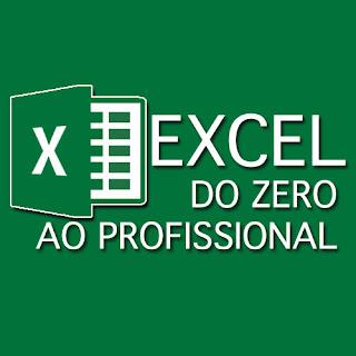 Nome Excel do zero ao Avançado  e logo do excel