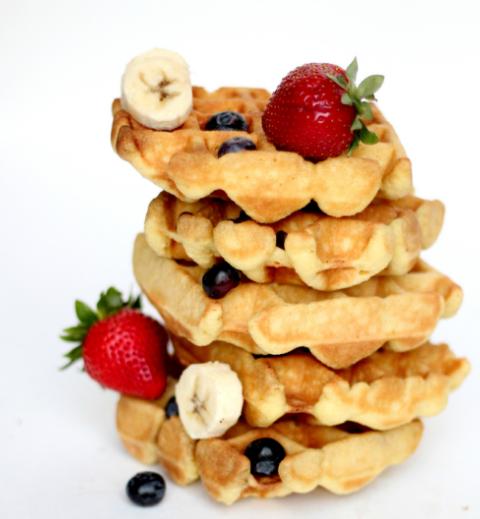 GLUTEN FREE WAFFLE RECIPE #dessert #waffle