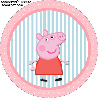 Peppa pig free printable labels and toppers oh my for Peppa pig cake template free