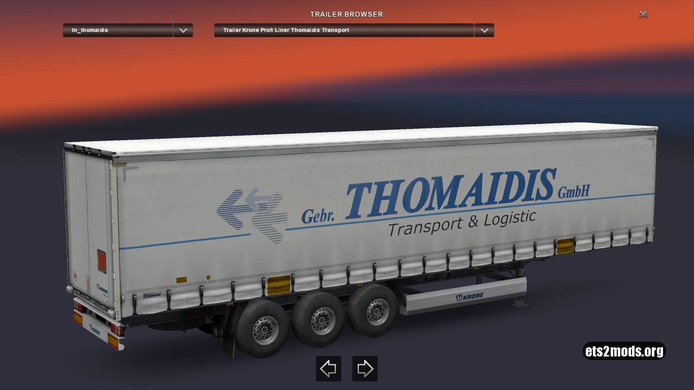 Krone Thomaidis Transport Trailer