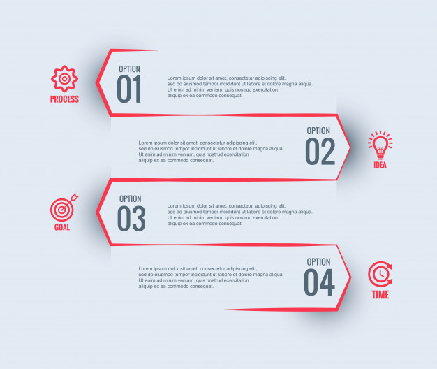Infographic business template design Free Vector