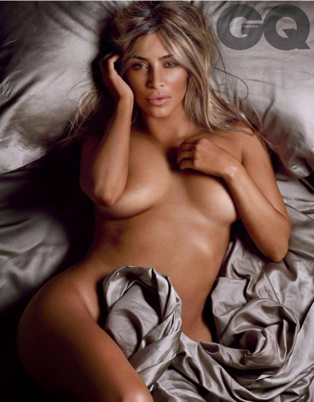 Kim Kardashian poses nude for the British GQ October 2014 issue