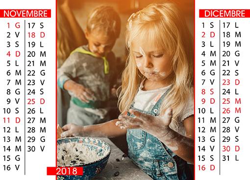 Calendario da tavolo bimestrale