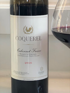2016 Coquerel Cabernet Franc Bennett's Vineyard label