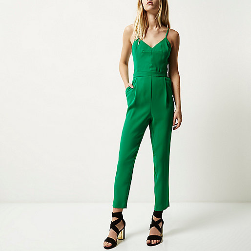 green tailored jumpsuit, river island green jumpsuit,
