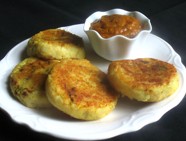 Spicy Stuffed Potato Patties