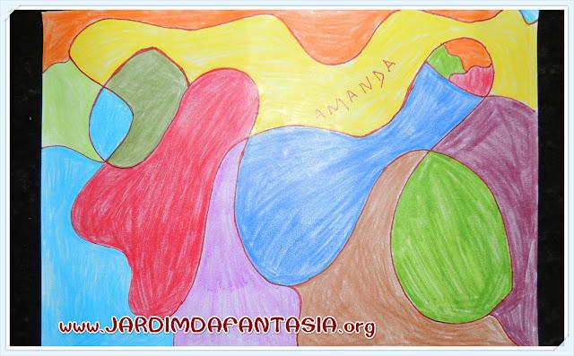 Atividade Artes Visuais Pintura e Linhas Curvas