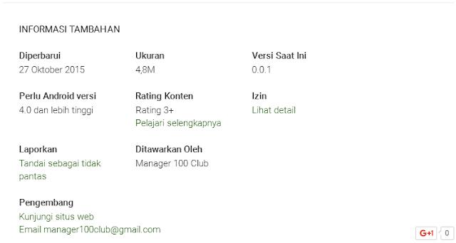 Info Aplikasi Manager100