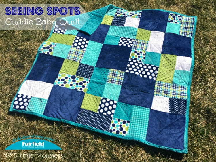 5 Little Monsters: Seeing Spots Cuddle Baby Quilt : blue baby quilt - Adamdwight.com