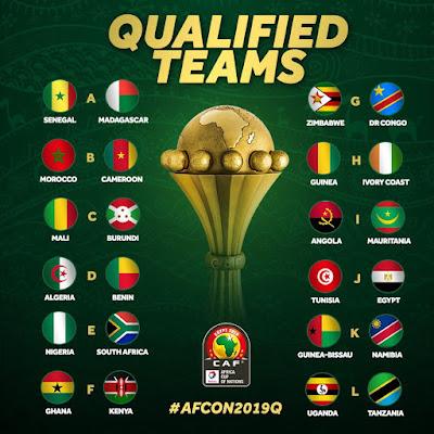 لأول مرة خمس منتخبات عربية في نهائي الأمم الإفريقية 2019