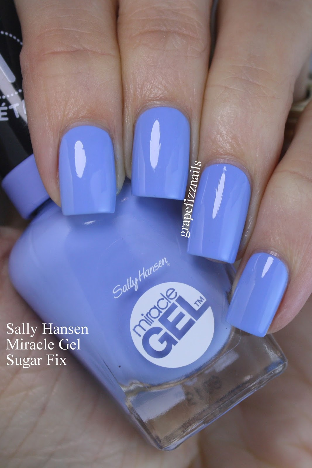 Grape Fizz Nails: Sally Hansen Miracle Gel Travel In Colour