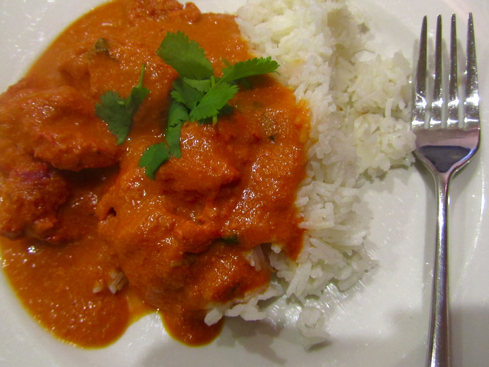Good food and red shoes: Chicken Tikka Masala