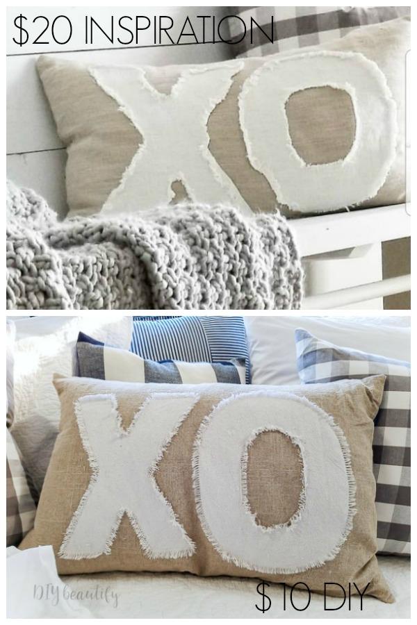 inspiration pillow and my $10 DIY pillow