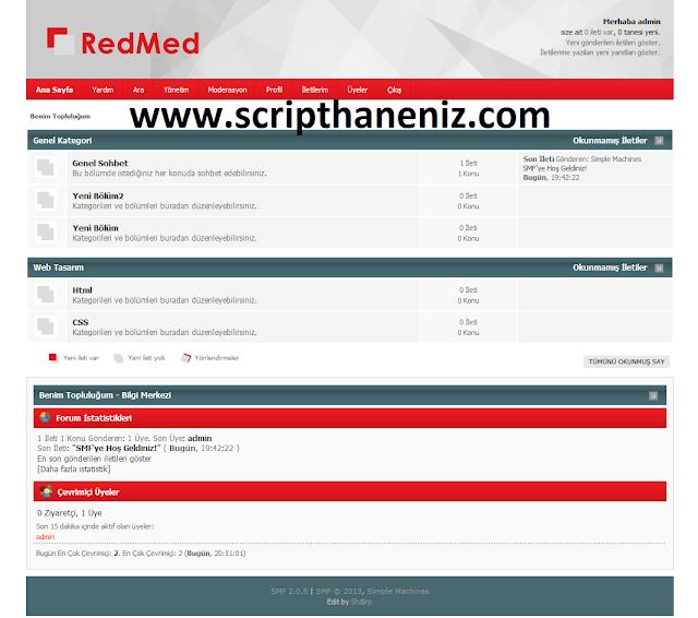 Red Med Forum Teması