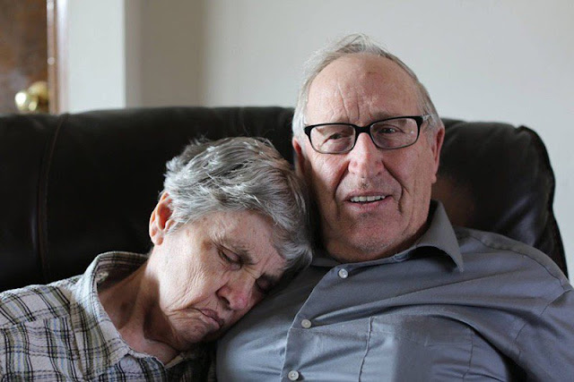 Tear-jerking: Husband Explains Why Wife With Dementia Slips Her Hand Under His Shirt