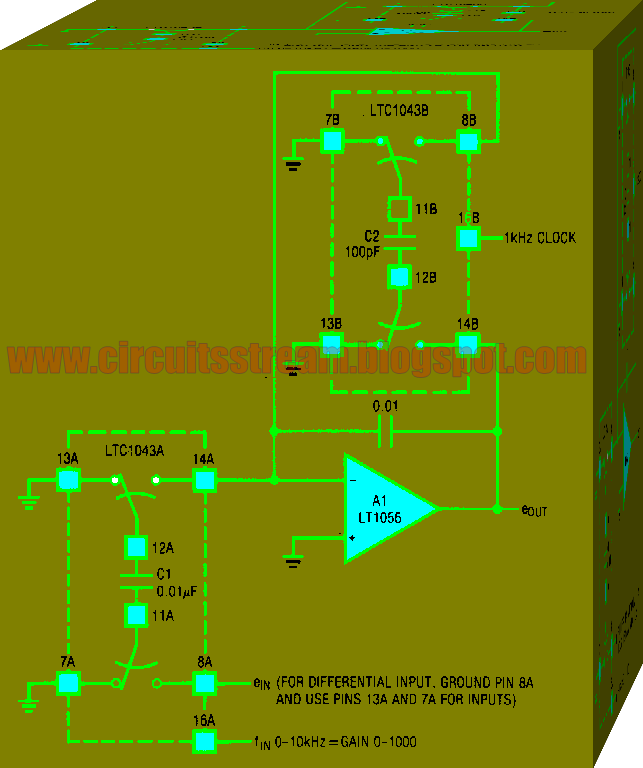 WRDC Variable Gain Amplifier Circuit Diagram