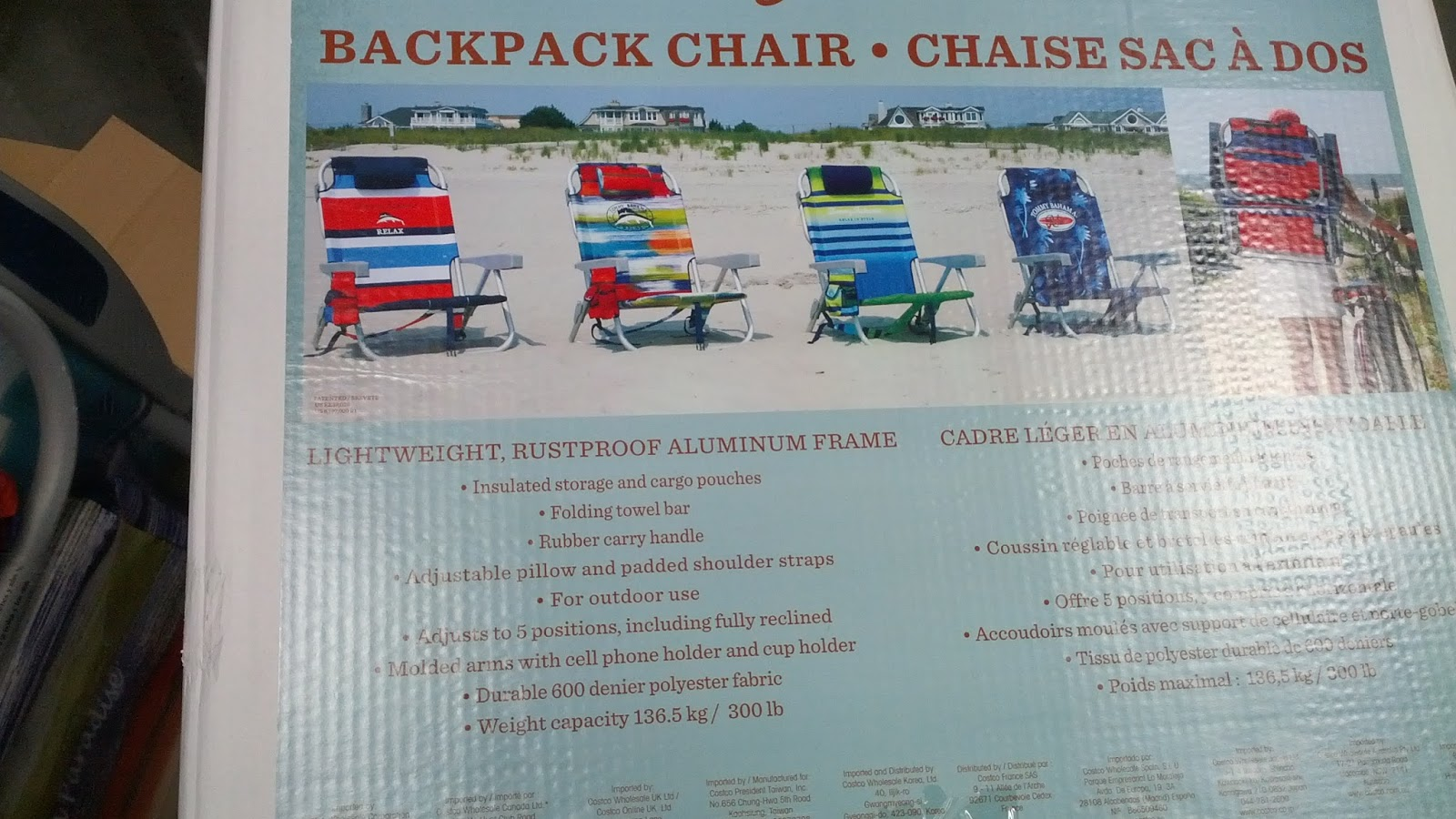 Backpack Beach Chair Costco Tommy Bahama Backpack Beach Chair Costco Weekender