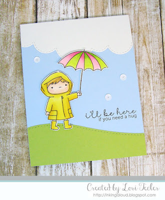I'll Be Here card-designed by Lori Tecler/Inking Aloud-stamps and dies from Mama Elephant