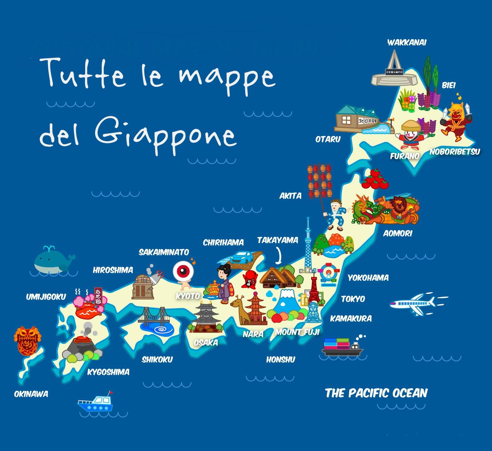 Cartina Fisica Del Giappone In Italiano.Tutte Le Mappe Del Giappone Da Scaricare Aggiornato Su Goi