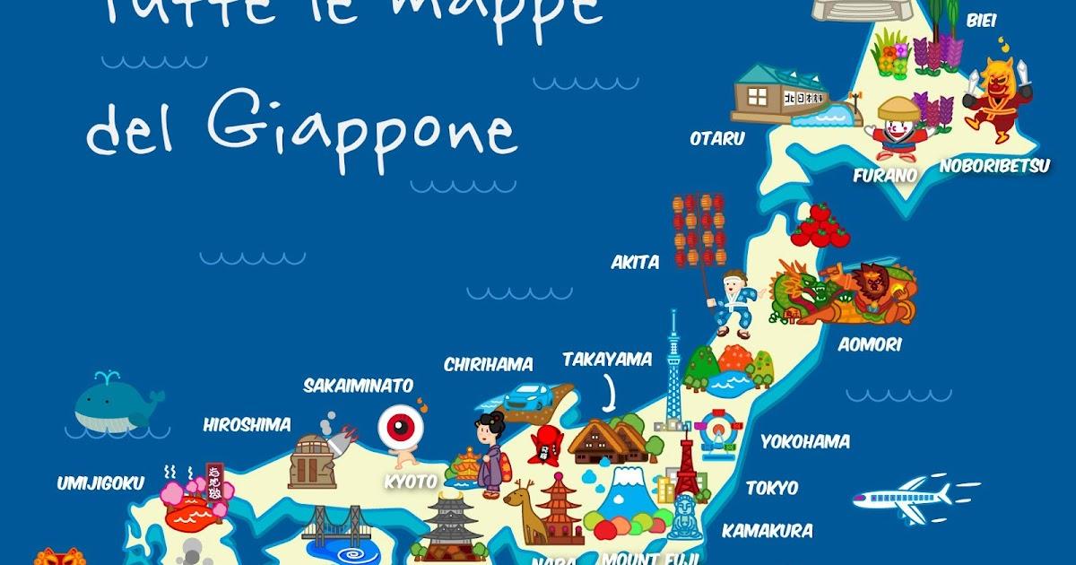 Il Giappone Cartina Fisica.Tutte Le Mappe Del Giappone Da Scaricare Aggiornato Su Goi