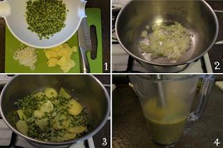 foto preparazione Ricetta crema di piselli secchi per bambini