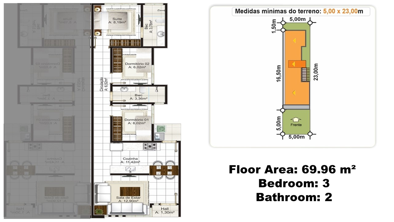 50sqm to 70 sqm small house with floor plans and lay out for 70 square meter modern house design
