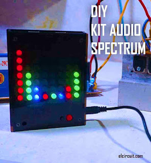DIY KIT Voice Spectrum Lights 8x8 LED Red/Green/Blue