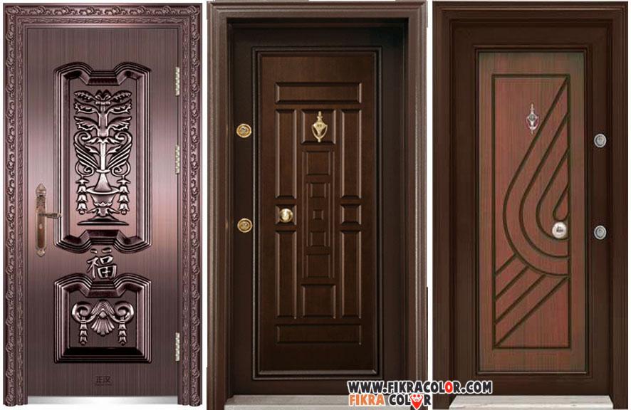 ديكورات ابواب خشبية داخلية مع لون الفرنيش بتصاميم عصرية   fikra color
