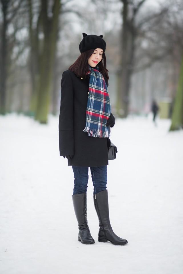 szal-w-kratę-jak-nosić-zimą