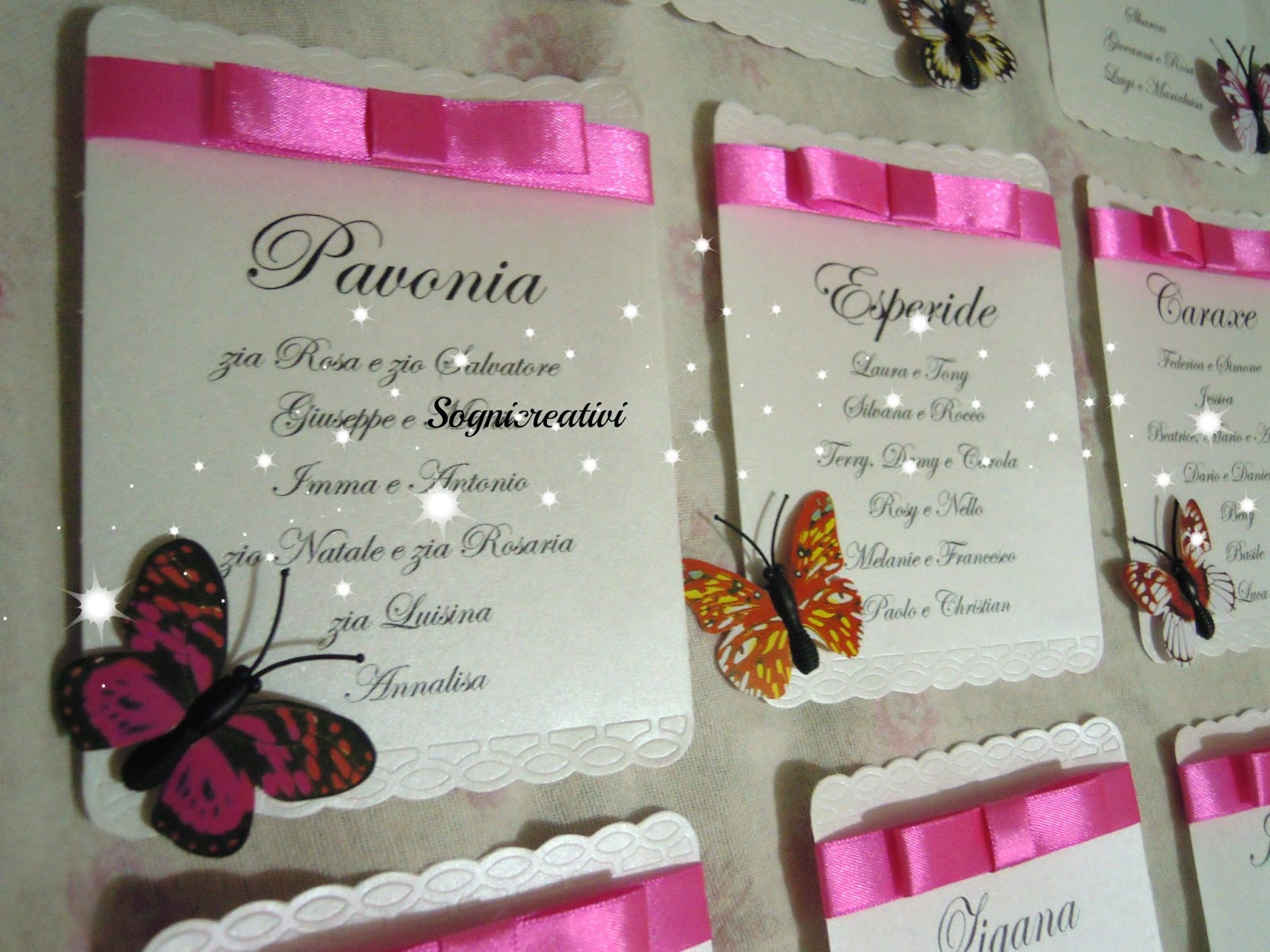 Famoso Partecipazioni Sognicreativi Wedding and Events: Cartellini  ZX02