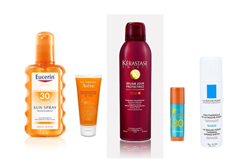 da3543142 ... como: protector de corpo, protector de cara, batom solar, protector de  cabelo, água termal e ainda, para as mais exigentes, creme de mãos com FPS.
