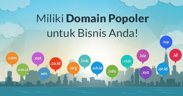 Gratis domain populer hosting murah