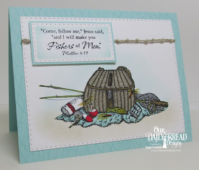 ODBD Fishing Basket, ODBD Fishing Net Background, ODBD The Waves On The Sea, ODBD Custom Double Stitched Rectangles Dies, Card Designer Angie Crockett