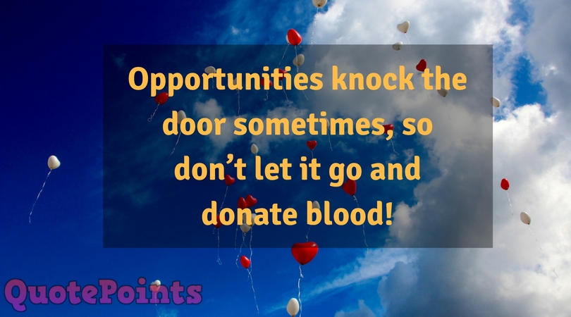 blood donation quotes english