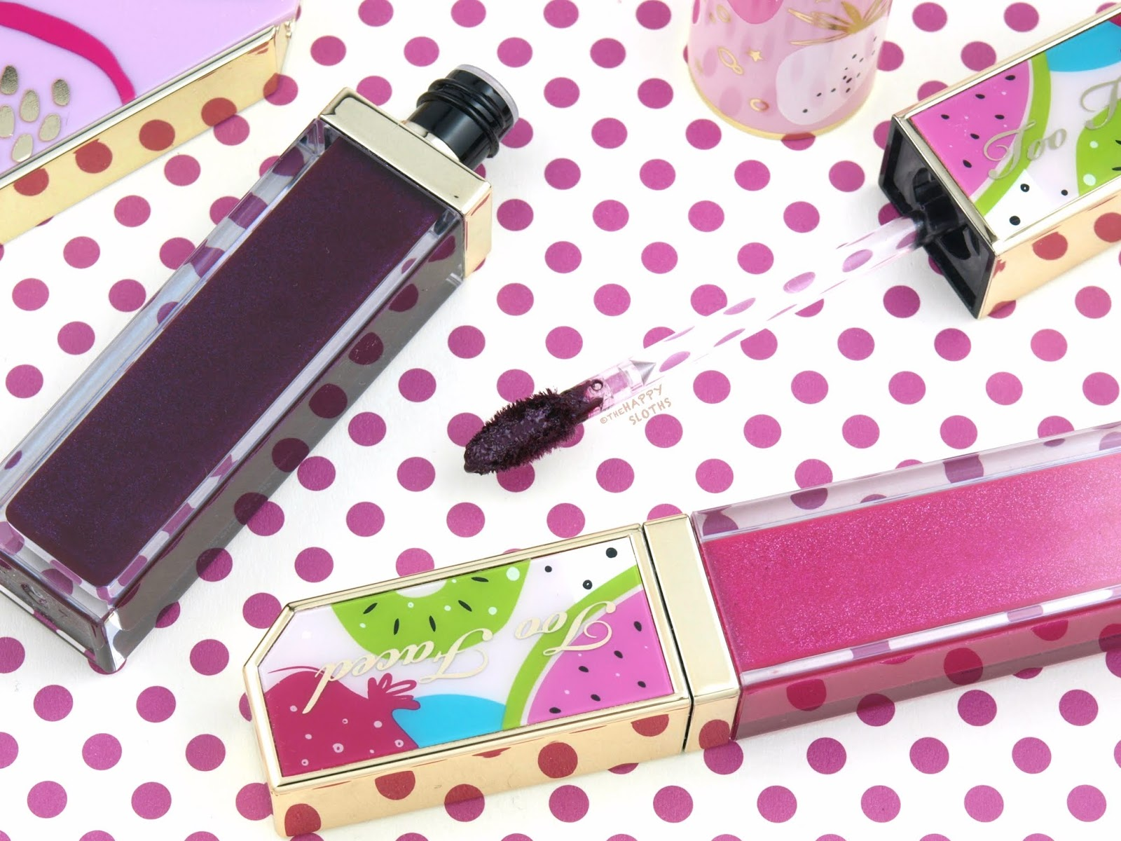 Too Faced Tutti Frutti Collection | Juicy Fruits Comfort Lip Glaze: Review and Swatches