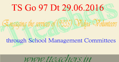 TS Go 97 Vidya Volunteers 9335 Posts fill up through smcs