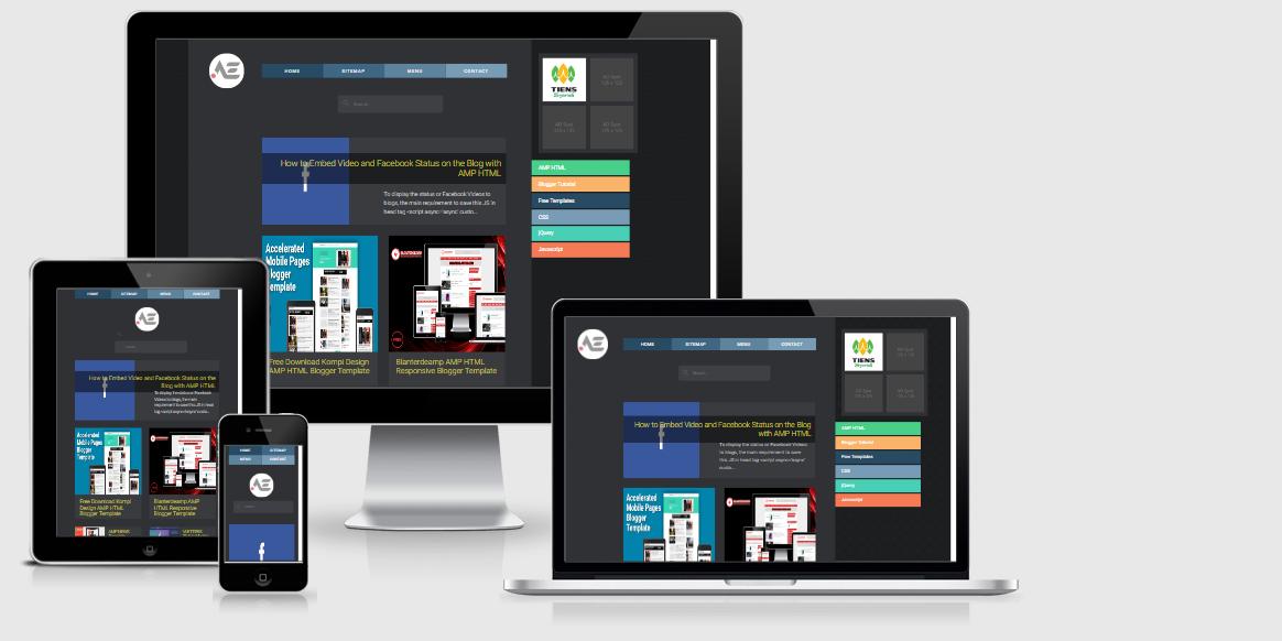 Amp Blogger Templates Free Download KangIs Amp Blogger Template | Awesome Templates
