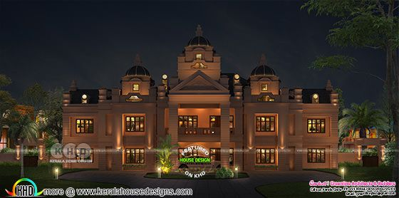 Colonial mansion 3d rendering in Kerala