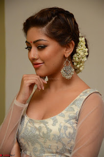 Anu Emmanuel in a Transparent White Choli Cream Ghagra Stunning Pics 096.JPG