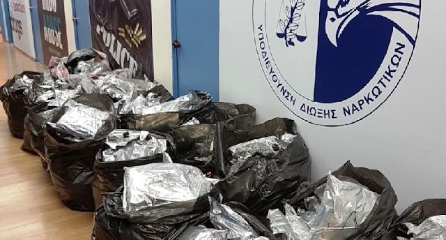 Greece, huge amount of marijuana from Albania blocked