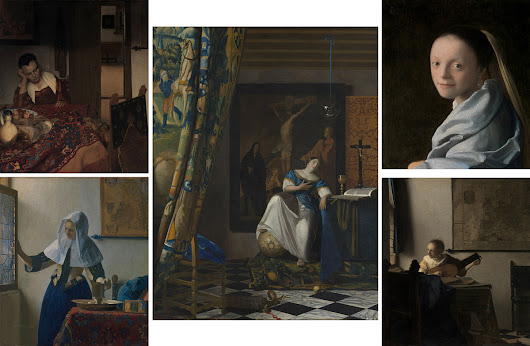 Dutch Masterpieces: Five Vermeer's and three Rembrandt's artworks at The Met.NY.USA