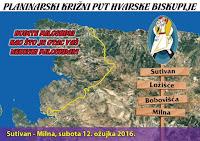 Planinarski križni put za vjernike Hvarske biskupije Sutivan Ložišća Bobovišća Milna slike otok Brač Online