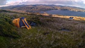 Camping above Puerto Español, Bahía Aguirre - Peninsula Mitre