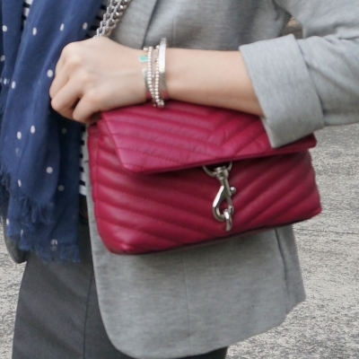 Rebecca Minkoff Edie small crossbody bag in magenta | away from the blue