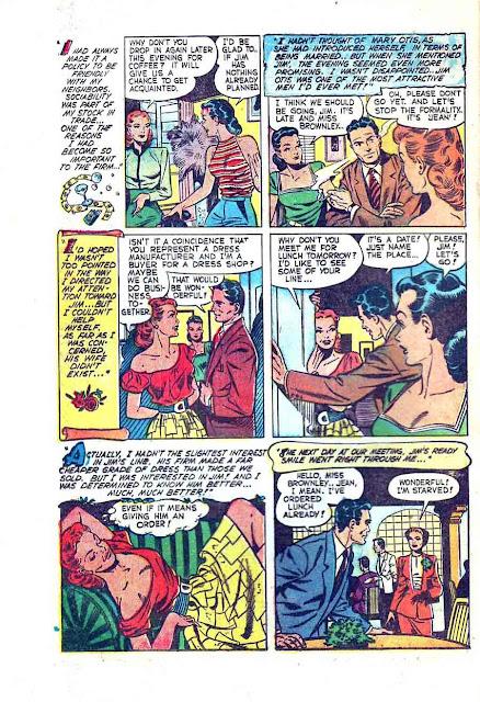 Pictorial Romances v1 #10  st. john romance comic book page art by Matt Baker