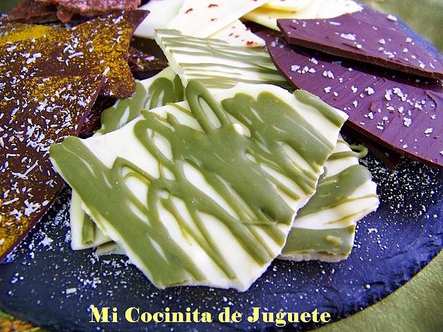 Lascas de Chocolate con Sabores: Té Verde