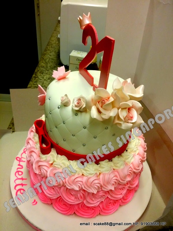 The Sensational Cakes 21st Borthday Cake Singapore
