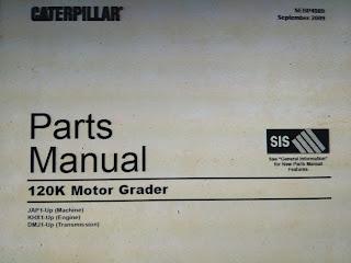 Parts Manual 120K Motor Grader