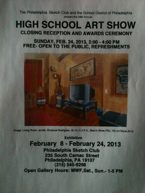 High School Art Show Flyers