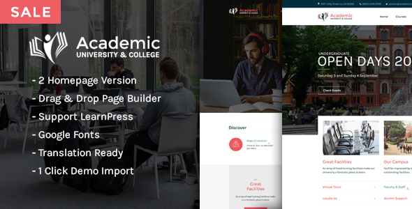 Academic - Education WordPress Theme Nulled